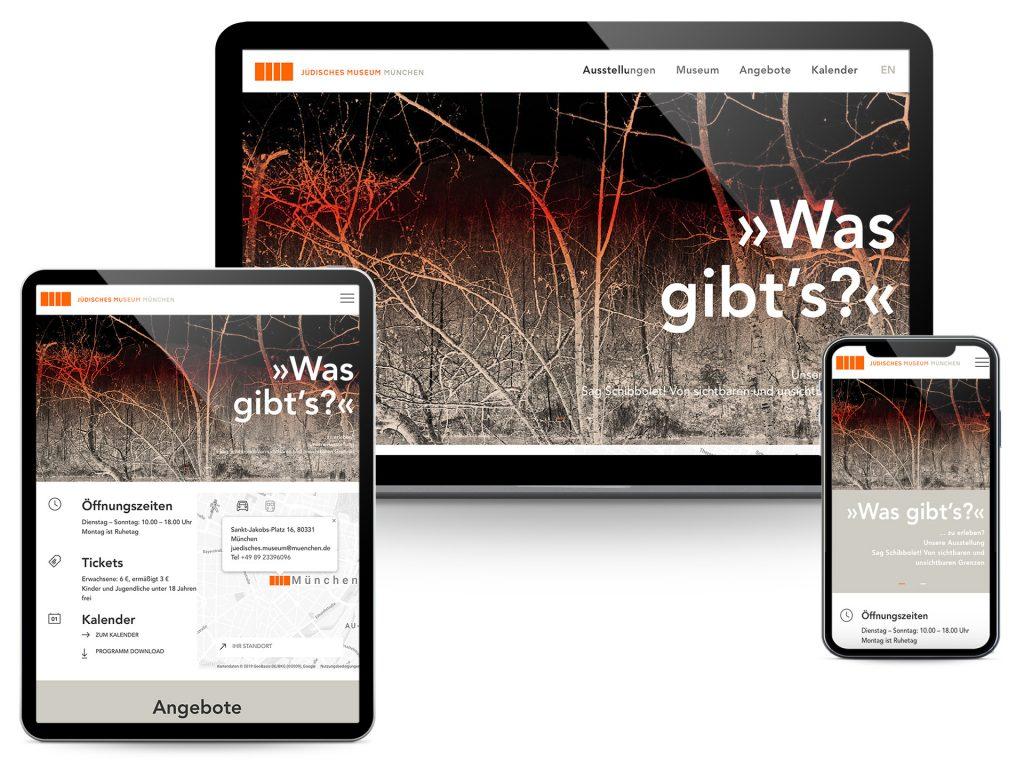 Jüdisches Museum Screenshots Website