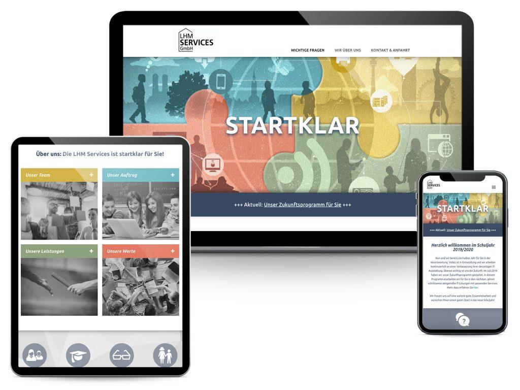 M-Bildung Screenshots Website