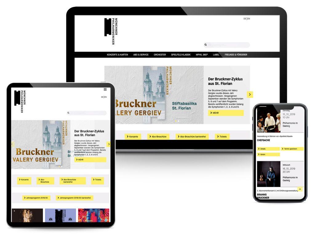Münchner Philharmoniker Screenshots Website