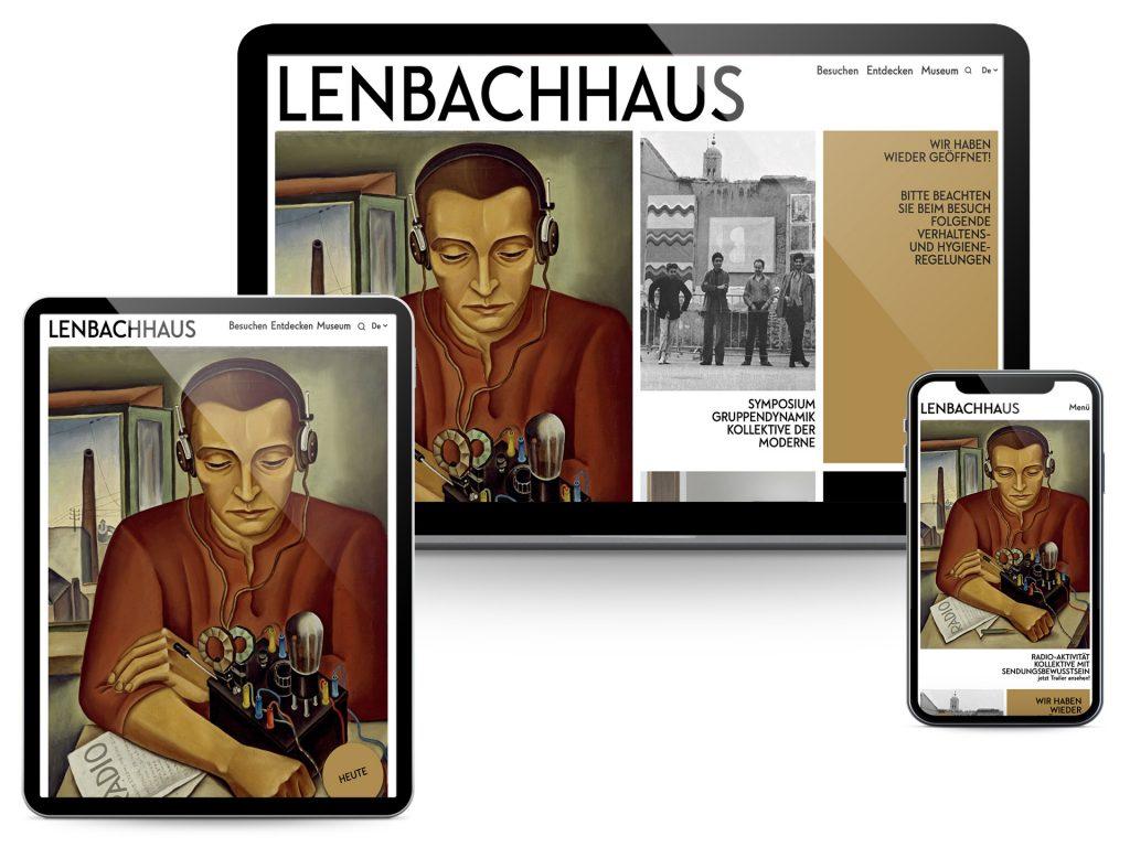 Lenbachhaus Screenshots Website
